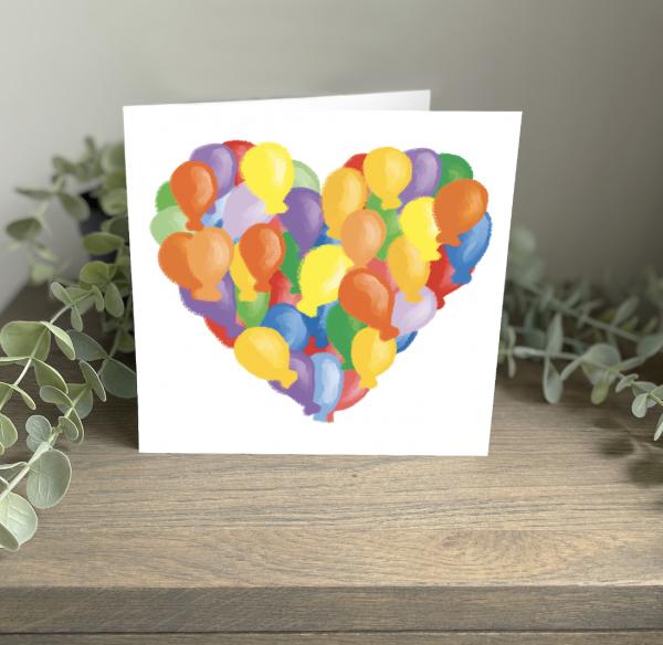 Wild Watermelon Greeting Cards Birthday Love Balloons Heart
