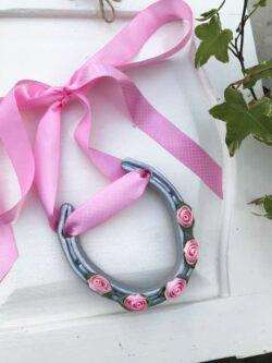 Pink Good Luck Horse Shoe