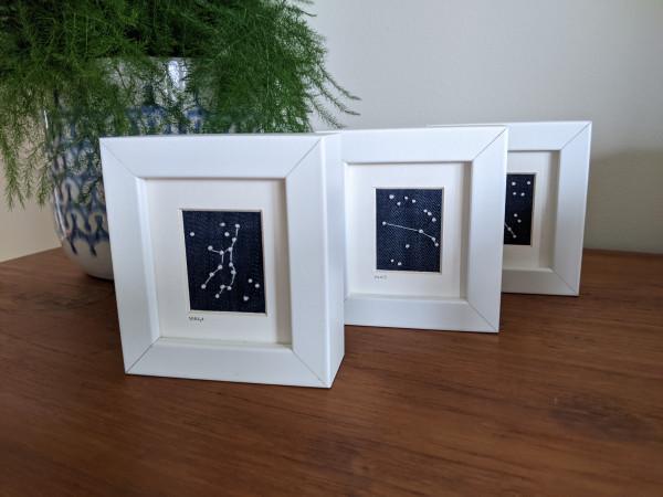 Virgo Star Constellations Miniature Frame - Virgo Aries scaled