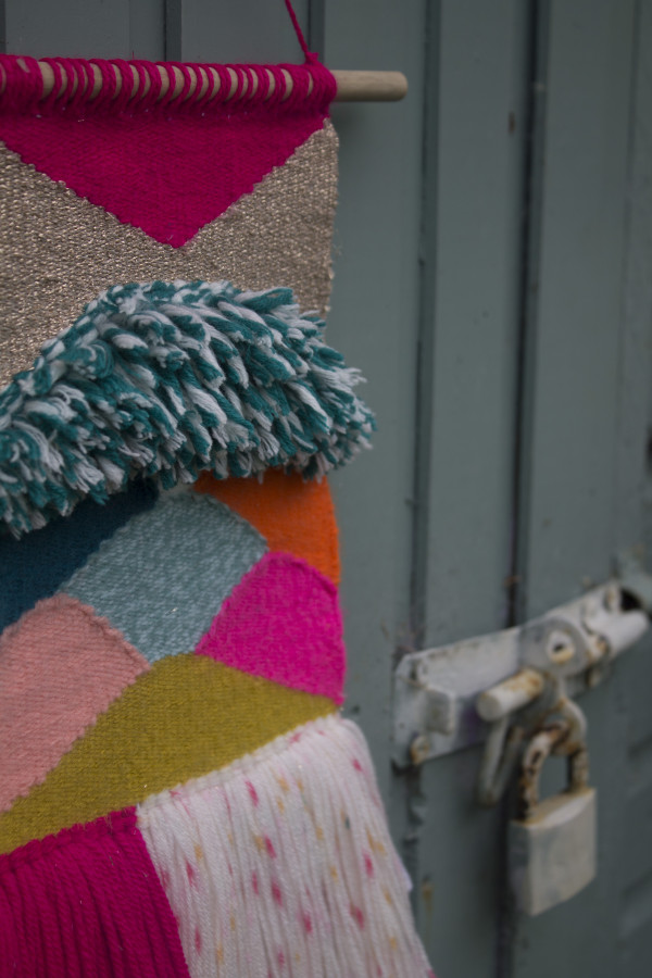 Vibrant Handwoven Wallhanging - Weavepink3 scaled