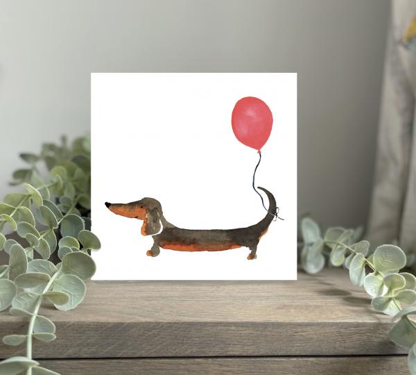 Wild Watermelon Greeting Cards Birthday Dachshund Balloon