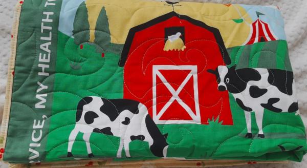 Organic Farm Life Baby Quilt - farm3