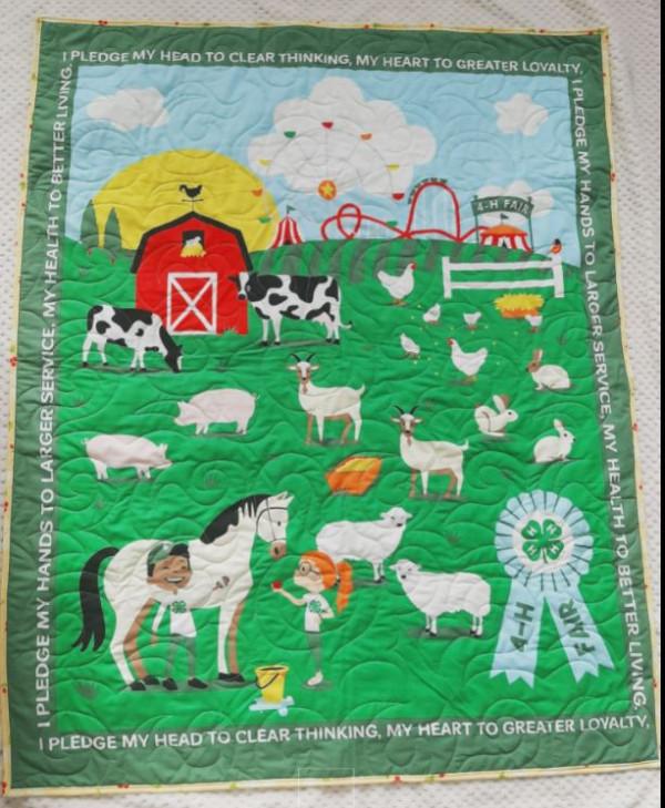 Organic Farm Life Baby Quilt