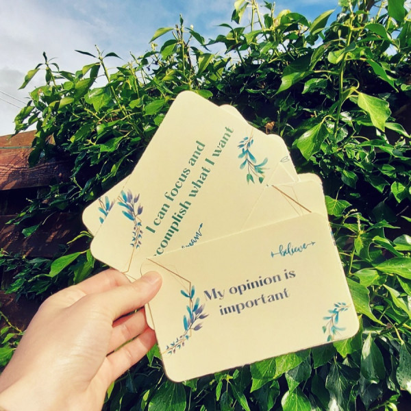 Self-Confidence Cards Personal Growth Affirmations