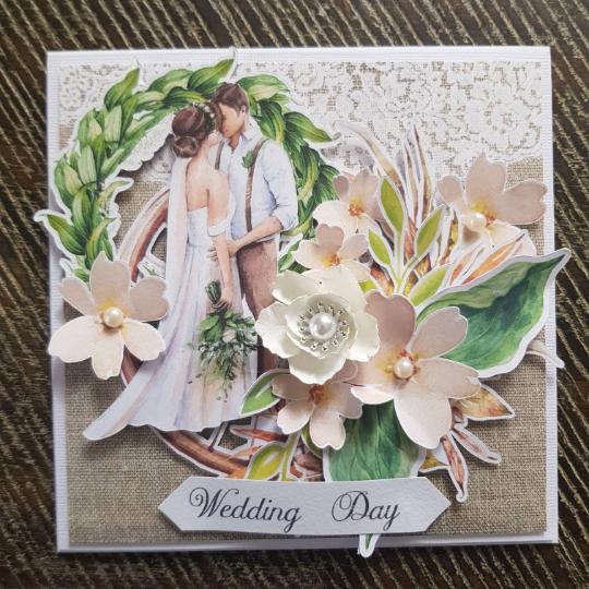 Rustic Handmade Box Wedding Card