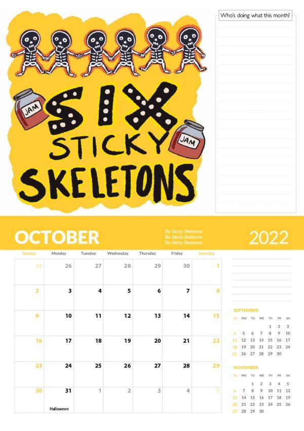2022 Calendar Twelve Tongue Twisters for Twenty Twenty Two - 10 screen family 2022 vers cal 11 e1632413477266