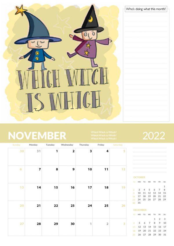 2022 Calendar Twelve Tongue Twisters for Twenty Twenty Two - 11 screen family 2022 vers cal 12 1 e1632413614908