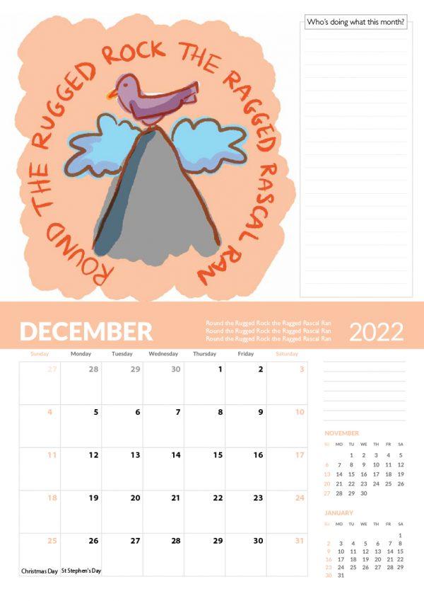 2022 Calendar Twelve Tongue Twisters for Twenty Twenty Two - 12 screen family 2022 vers cal 13 e1632413520525