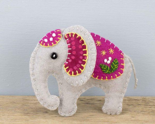 Elephant Felt Ornament - 13th April 274 scaled