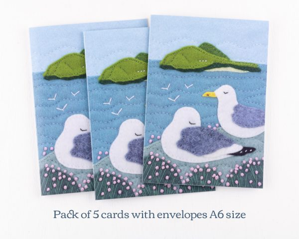 Seagull Greeting Cards Pack of 5 - 14th July 1488 text scaled