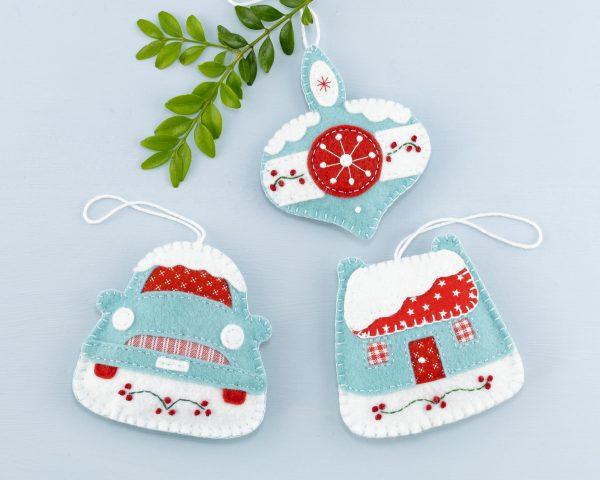 Vintage Bauble Felt Christmas Ornament - 15th June 1125 scaled