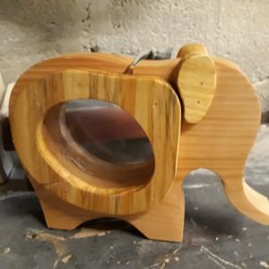 Elephant Wooden Money Box