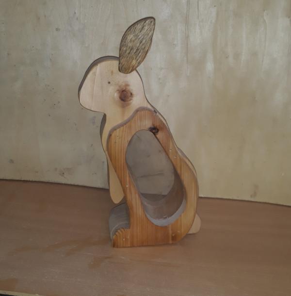 Rabbit Wooden Money Box