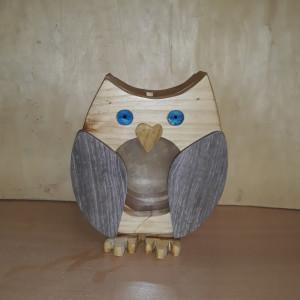 Owl Wooden Money Box
