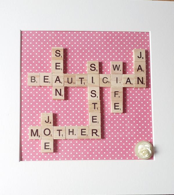Scrabble Family Name Frame