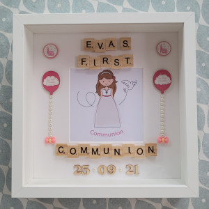 Girls Personalised Communion Frame