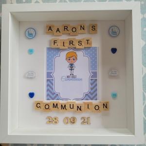 Boys Personalised Communion Frame