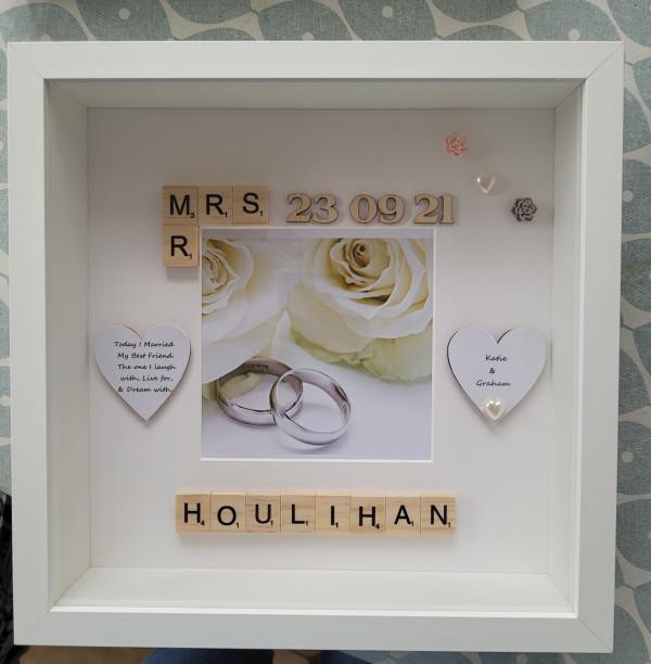 Mr & Mrs Wedding Day frame