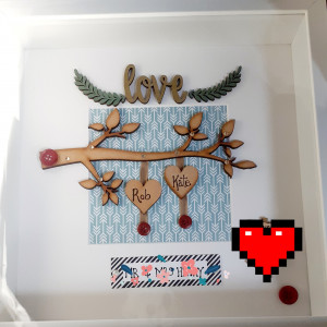 Love Wedding or Engagement Frame