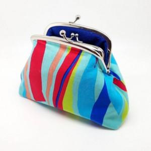 Bright Stripe Clutch Bag
