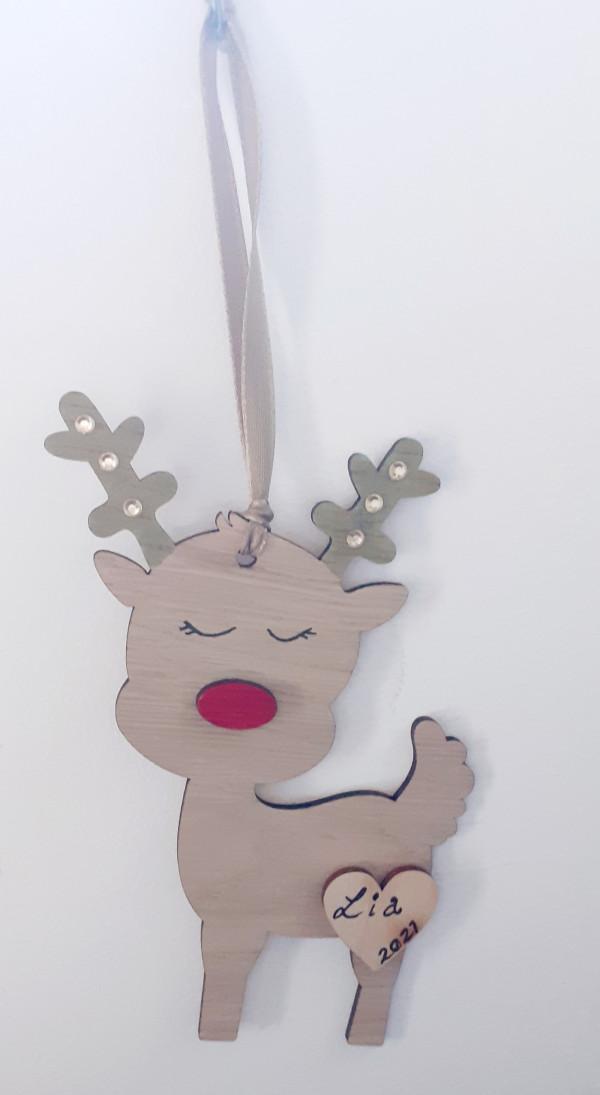 Personalised Reindeer Decorations