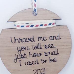 Height Ribbon Oak Christmas Decoration
