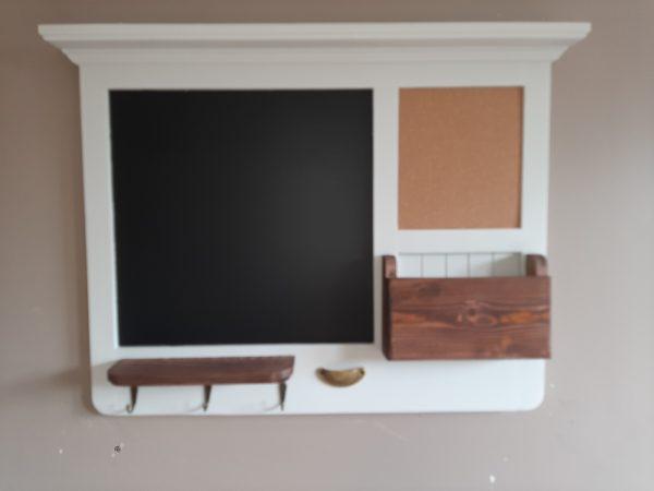 White Rustic Kitchen Message Board