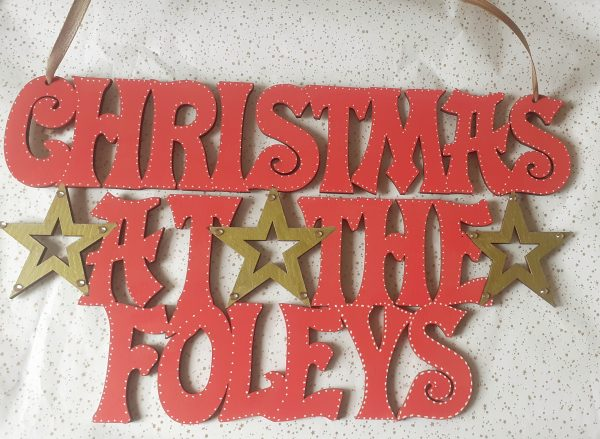 Christmas At The .. Sign with Stars