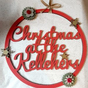 Christmas At The.. Round Hanging Hoop