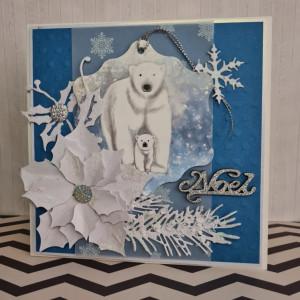 Noel White Winter Time Xmas Card