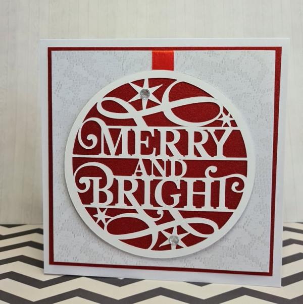 Merry and Bright Xmas Handmade Card