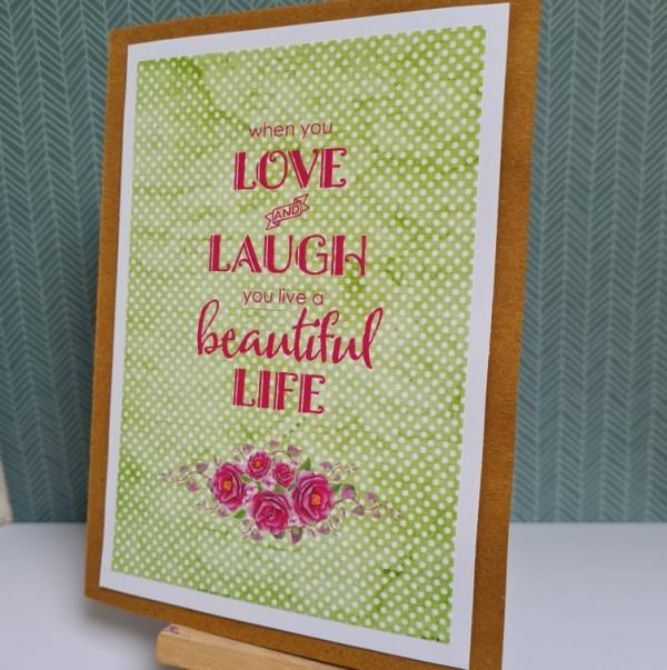 Love and Laugh Sentiment Handmade Card - 242214579 1107573570049814 2085589732523084694 n 1