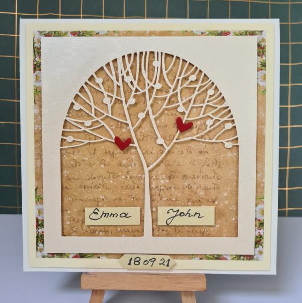 Wedding Tree Personalised Card