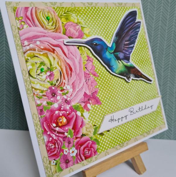 Blue Hummingbird Happy Birthday Card - 242228976 2976801539260352 6626346074498404747 n