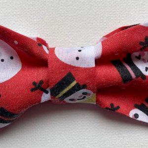 Snowmen Christmas Dog Bow Tie