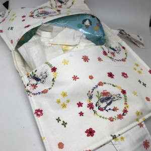Nappy and Wipes Wallet Rabbit Floral