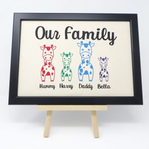 Personalised Family Portrait with Giraffes