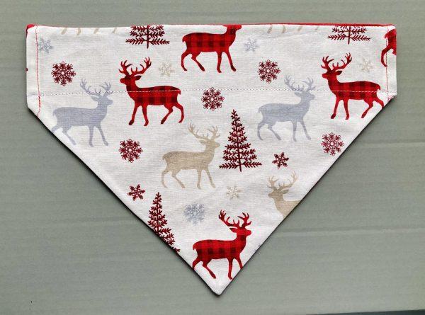 Christmas Reversible Dog Bandana - Winter Wonders / Gold Stars on Red - 5202F23B 44FE 4A31 B7B8 B9EB9115560E scaled