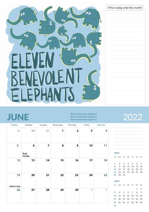 2022 Calendar Twelve Tongue Twisters for Twenty Twenty Two - 6 screen family 2022 vers cal 7 e1632413557237
