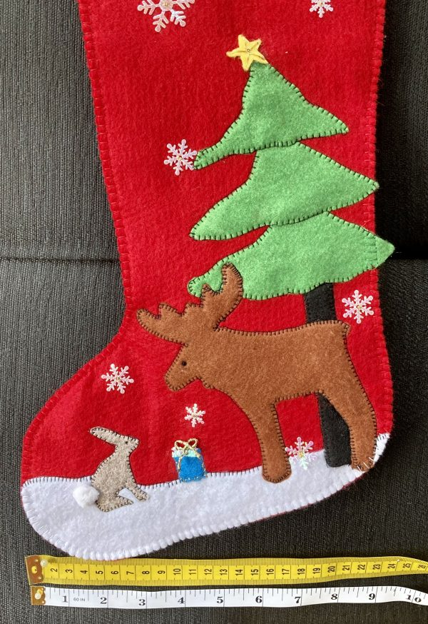 One-of-a-Kind Christmas Stocking, Red/Moose & Rabbit - 6F95DC81 ED01 409D 9B8E 18A555690C0E scaled