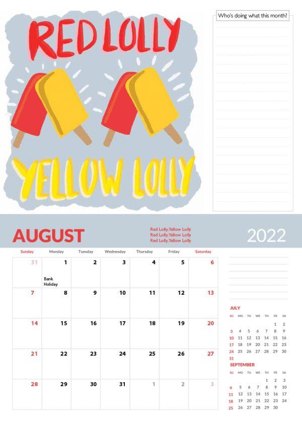 2022 Calendar Twelve Tongue Twisters for Twenty Twenty Two - 8 screen family 2022 vers cal 9 e1632413539985