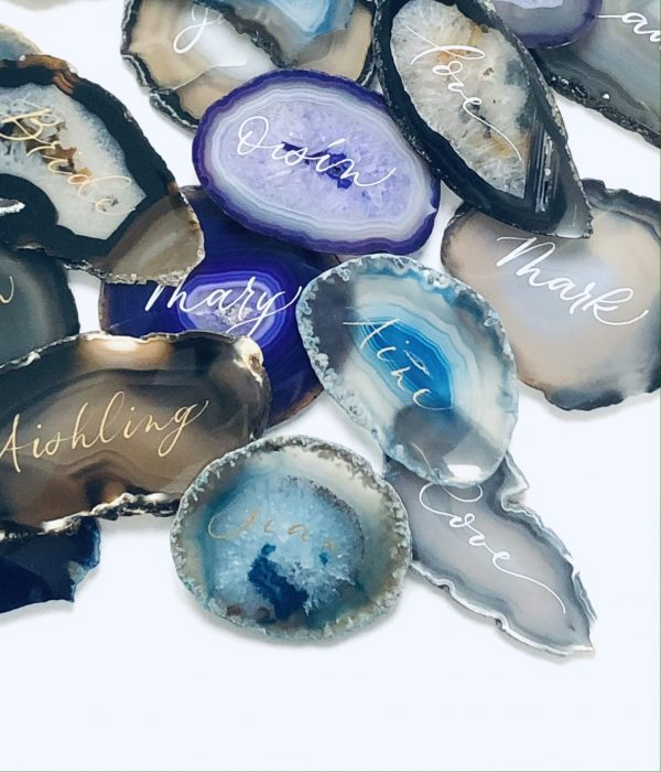 Agate Slices Name Place Cards - Agate Slices Wedding Place Cards.JPG