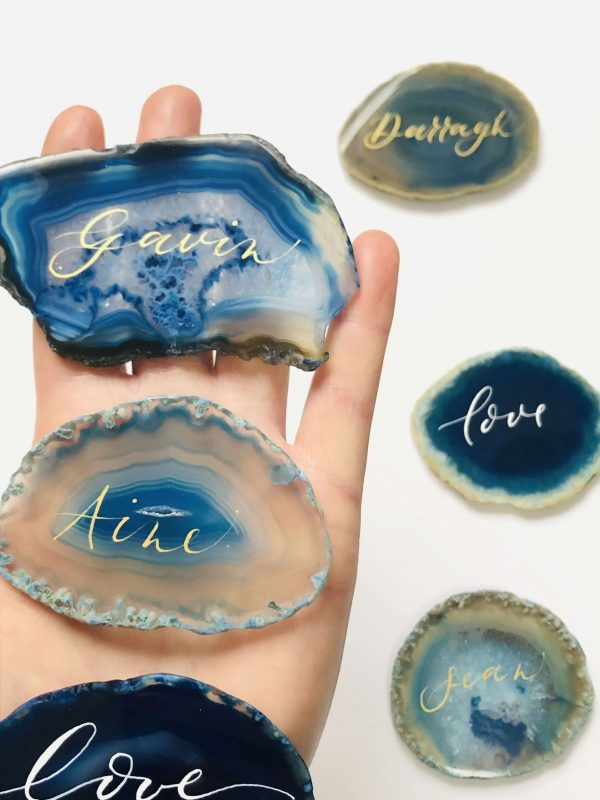 Agate Slices Name Place Cards - Blue Agate Slices Wedding PlaceCards.JPG scaled