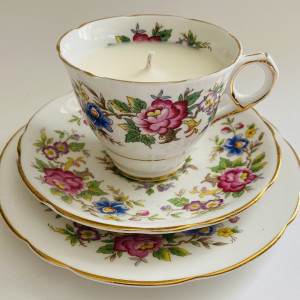 Teacup Candle - Floral Rochester Fine Bone China