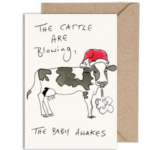 Funny Christmas Cattle Card