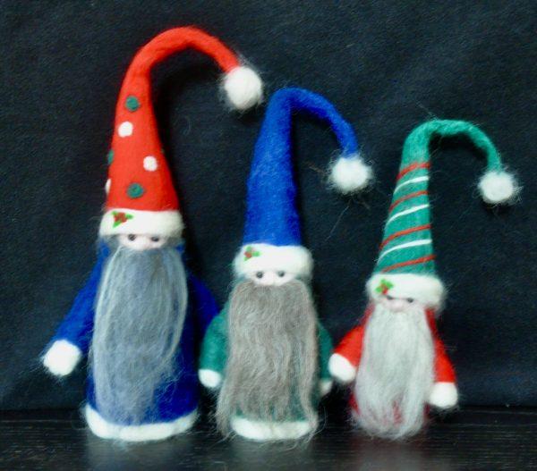 Festive Trio of Tomte Swedish Gnomes