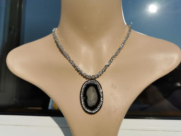 Grey Sparkle Necklace