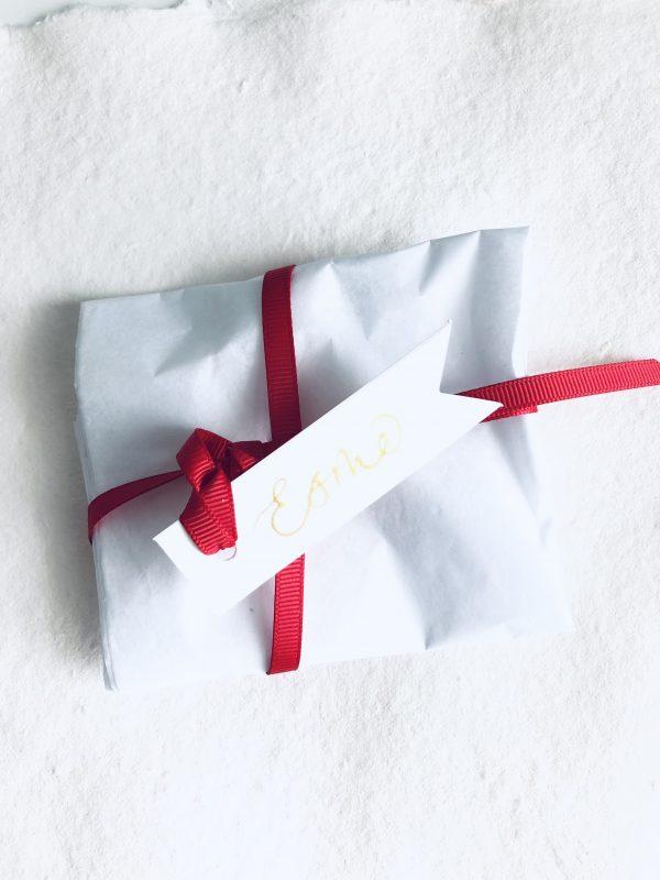 Handmade White Ceramic Star Personalised Christmas Bauble - IMG 0299 scaled