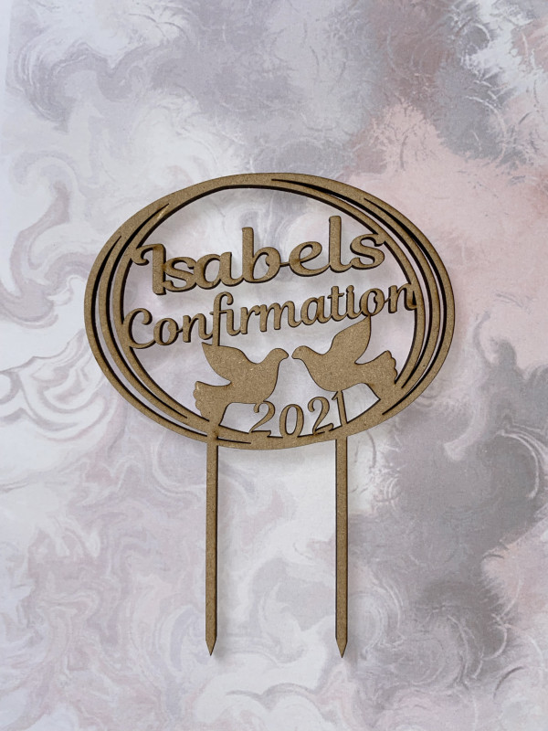 Communion / Confirmation Wooden Cake Topper