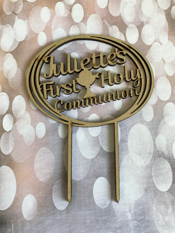 Communion / Confirmation Wooden Cake Topper - IMG 1534